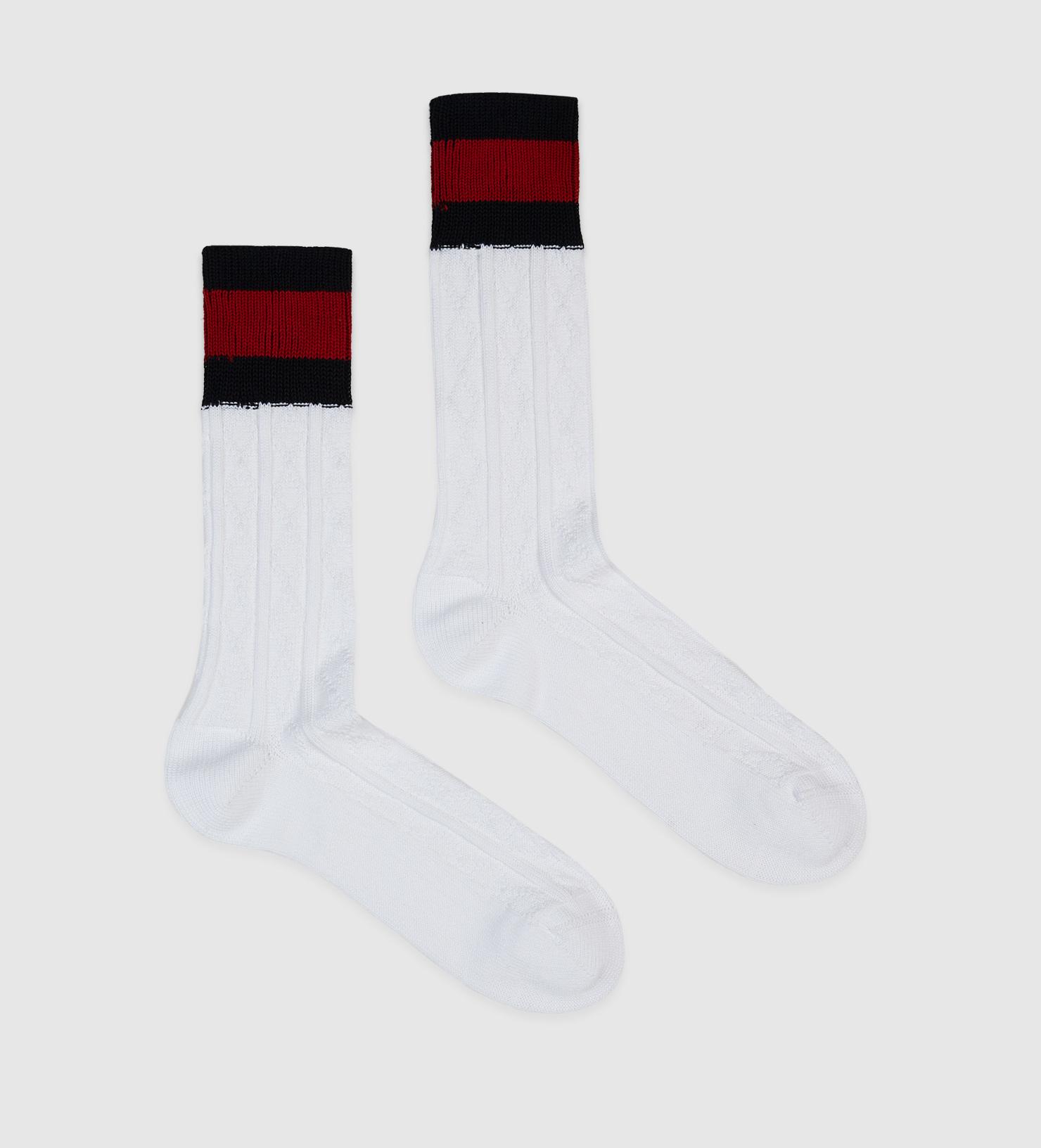 f871c5593e Gucci White Stretch Cotton Socks With Web for men