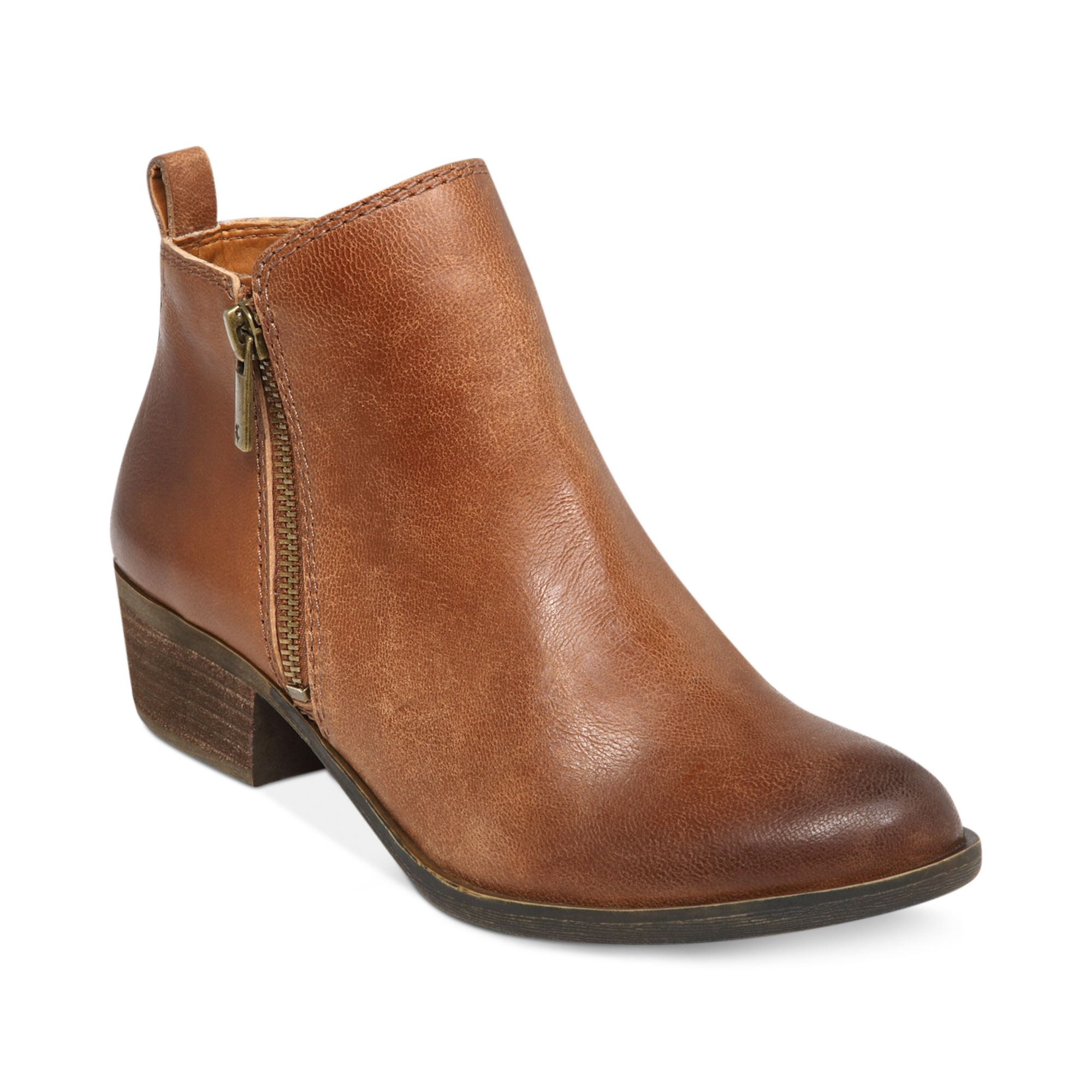 lucky brand s basel booties in brown toffee lyst