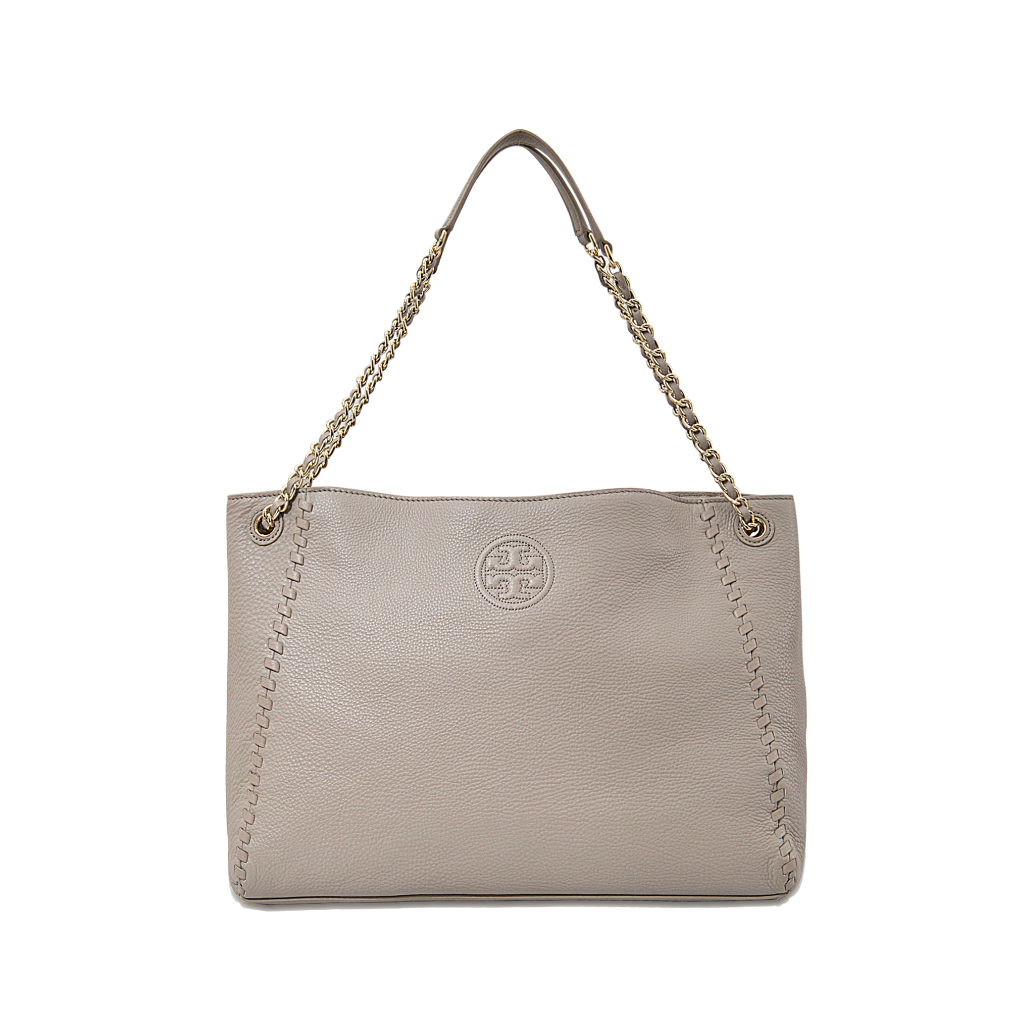 442cb42d9d33 Tory Burch Marion Chain-shoulder Slouchy Tote in Gray - Lyst