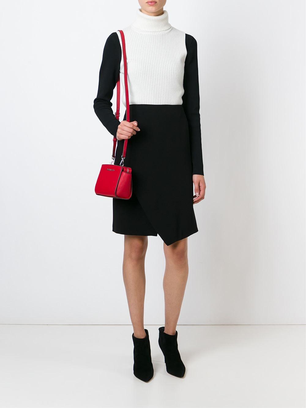 Michael Michael Kors Selma Mini Leather Cross Body Bag In