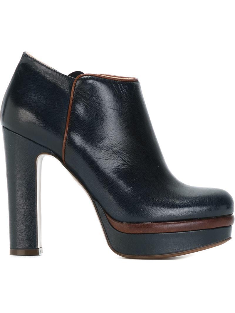 chunky heel platform boots is heel