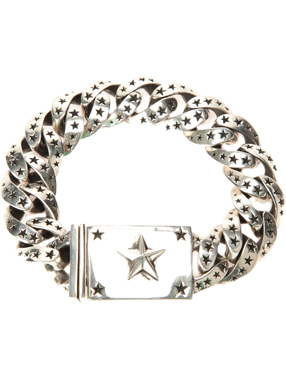 King Baby Studio Star Link Bracelet In Gray Grey Lyst