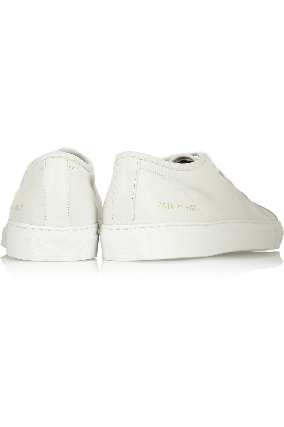 common projects tournament leather sneakers in white lyst. Black Bedroom Furniture Sets. Home Design Ideas