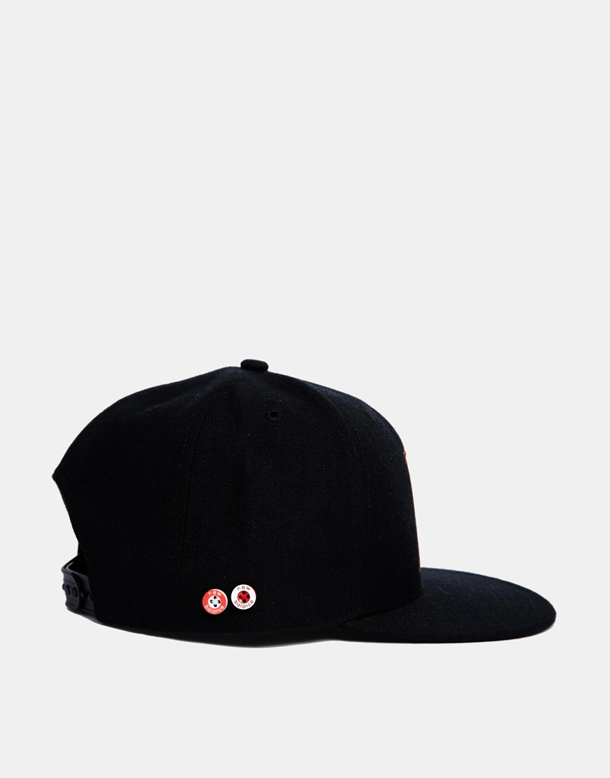 lyst new balance snapback cap in black for men. Black Bedroom Furniture Sets. Home Design Ideas