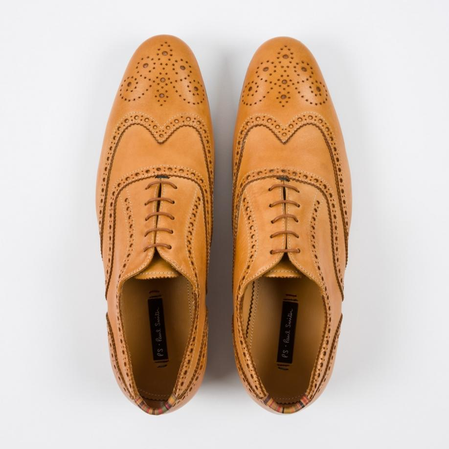 Paul Smith Men's Tan Leather 'miller
