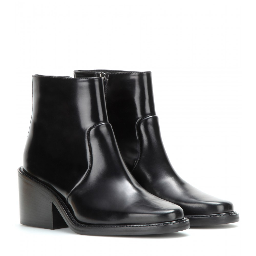 Acne Studios Daxon Leather Ankle Boots in Black