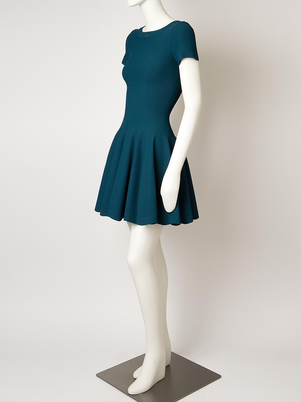 Lyst Ala 239 A Knit Dress In Blue