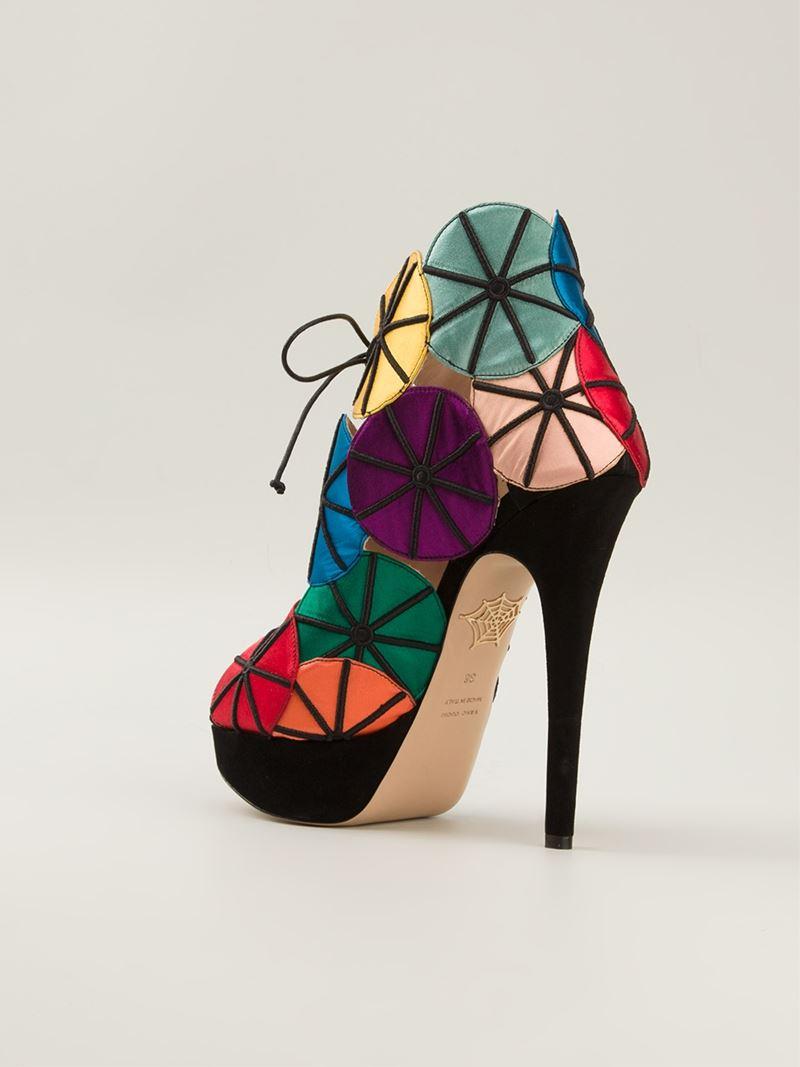 a2d68b8485b1 Lyst - Charlotte Olympia  parasol  Sandals
