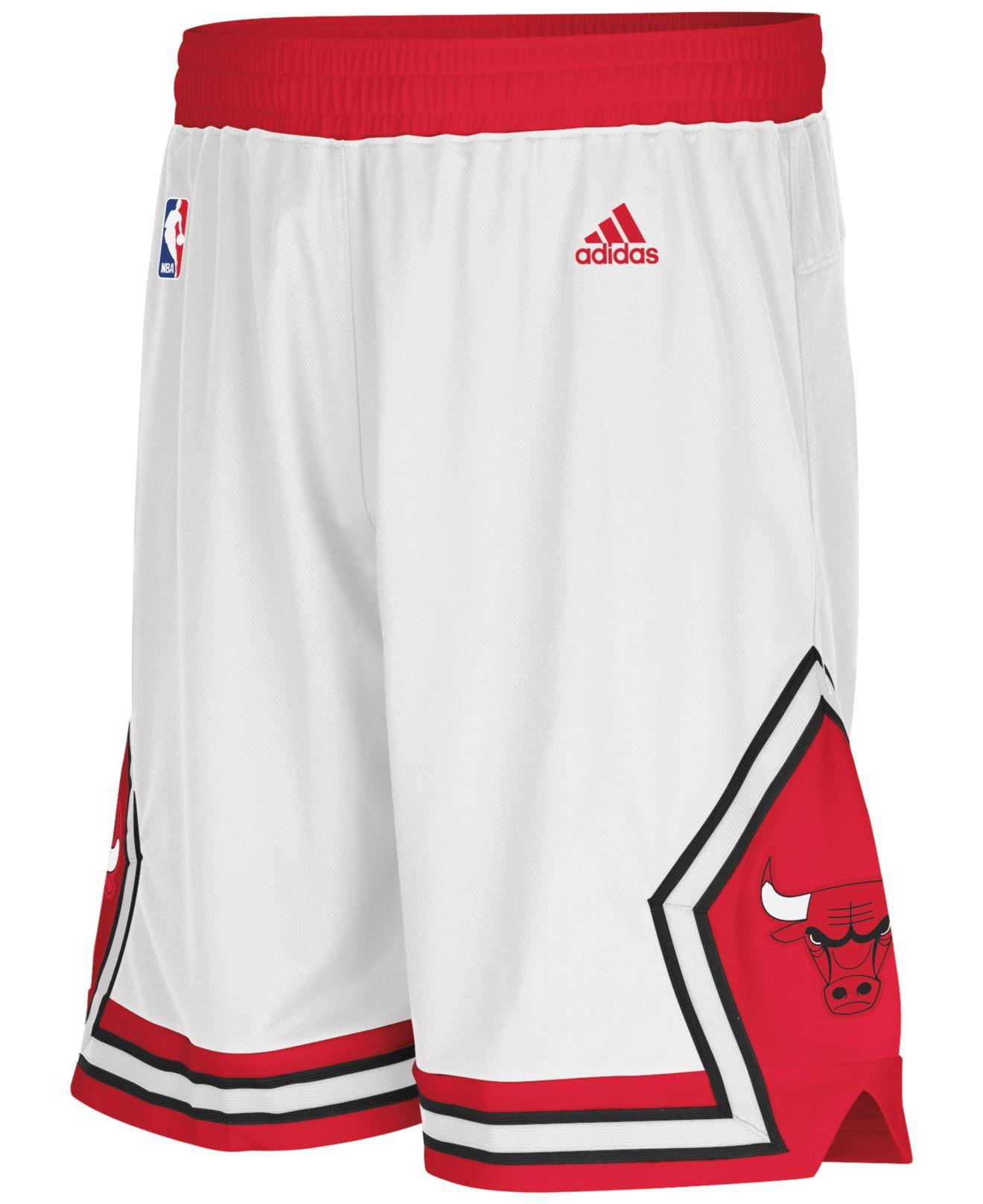 be1b408b Adidas Originals White Men's Chicago Bulls 3g Swingman Shorts for men