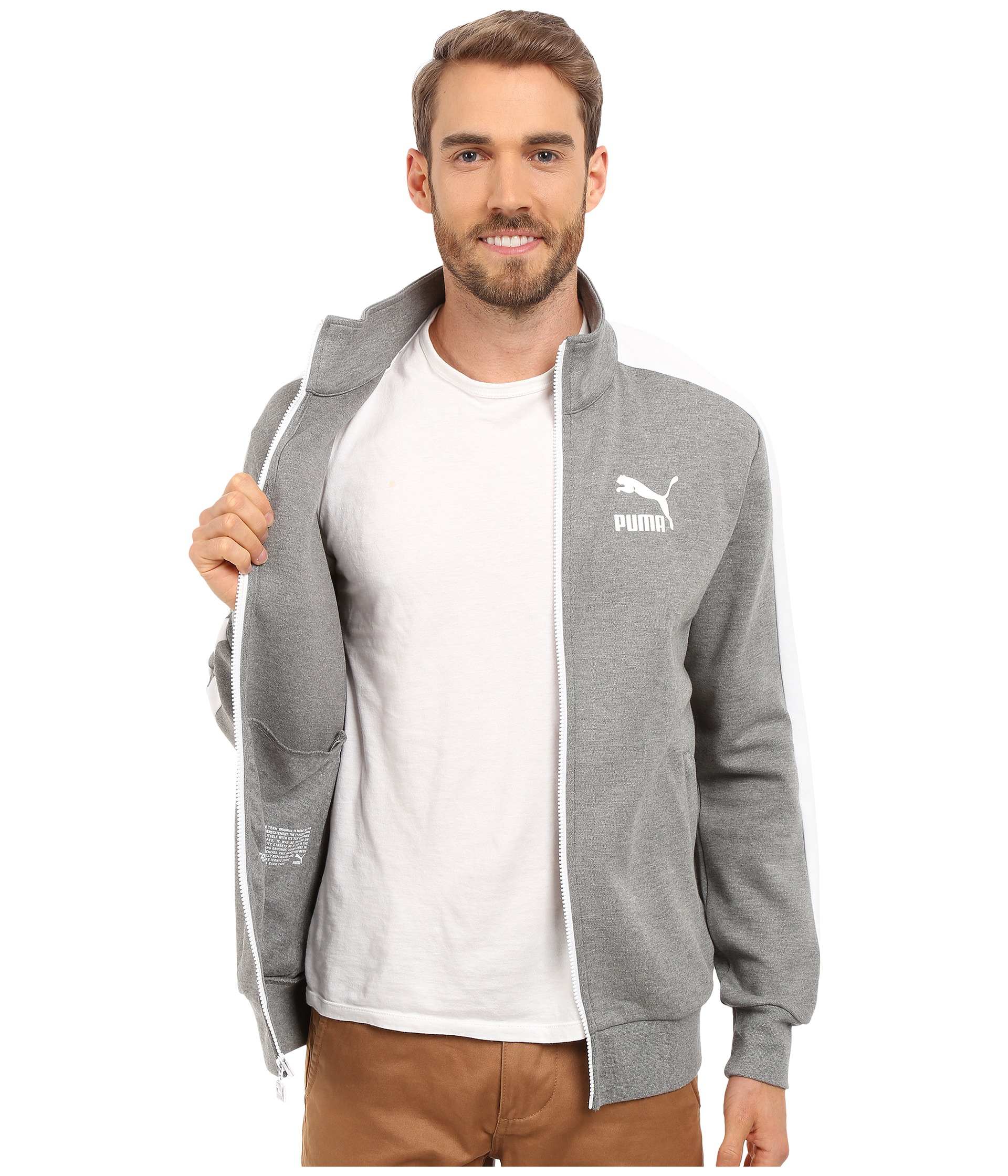 98f7452a1b2df Men's Gray Archive T7 Track Jacket