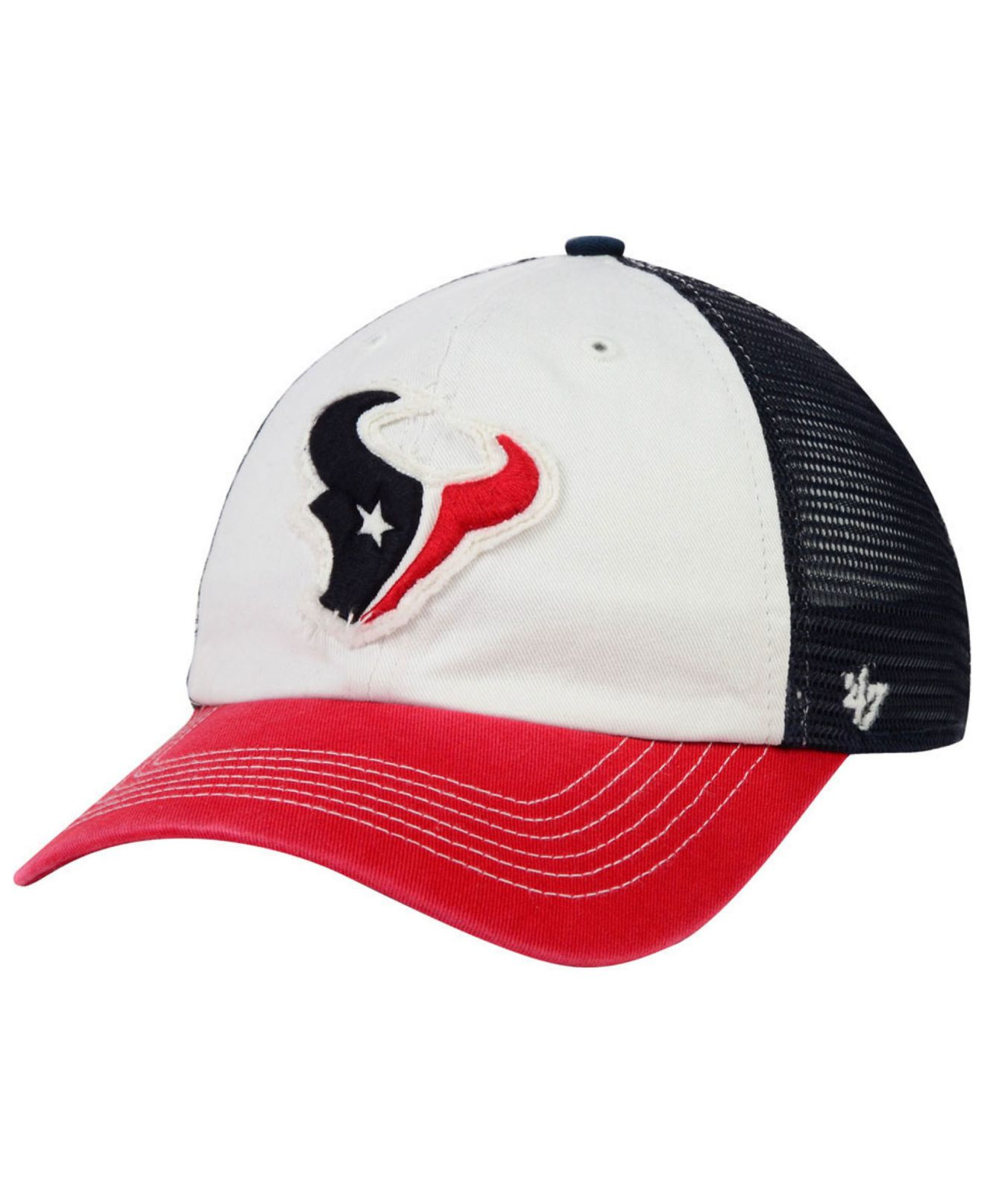 save off best new cheap 47 Brand Cotton Houston Texans Privateer Closer Cap in Red/Navy ...