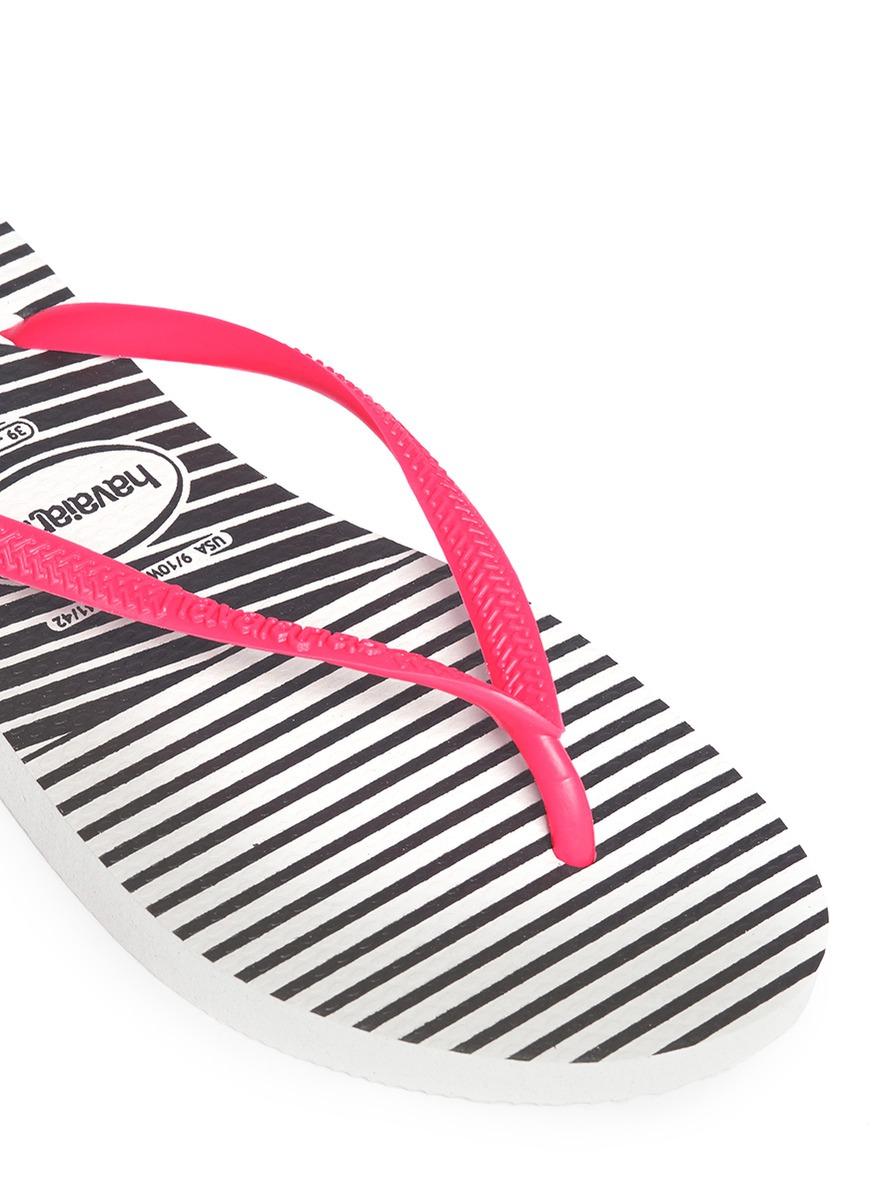 2daaf8b02340 Havaianas Slim Graphic Flip-flops in Pink - Lyst