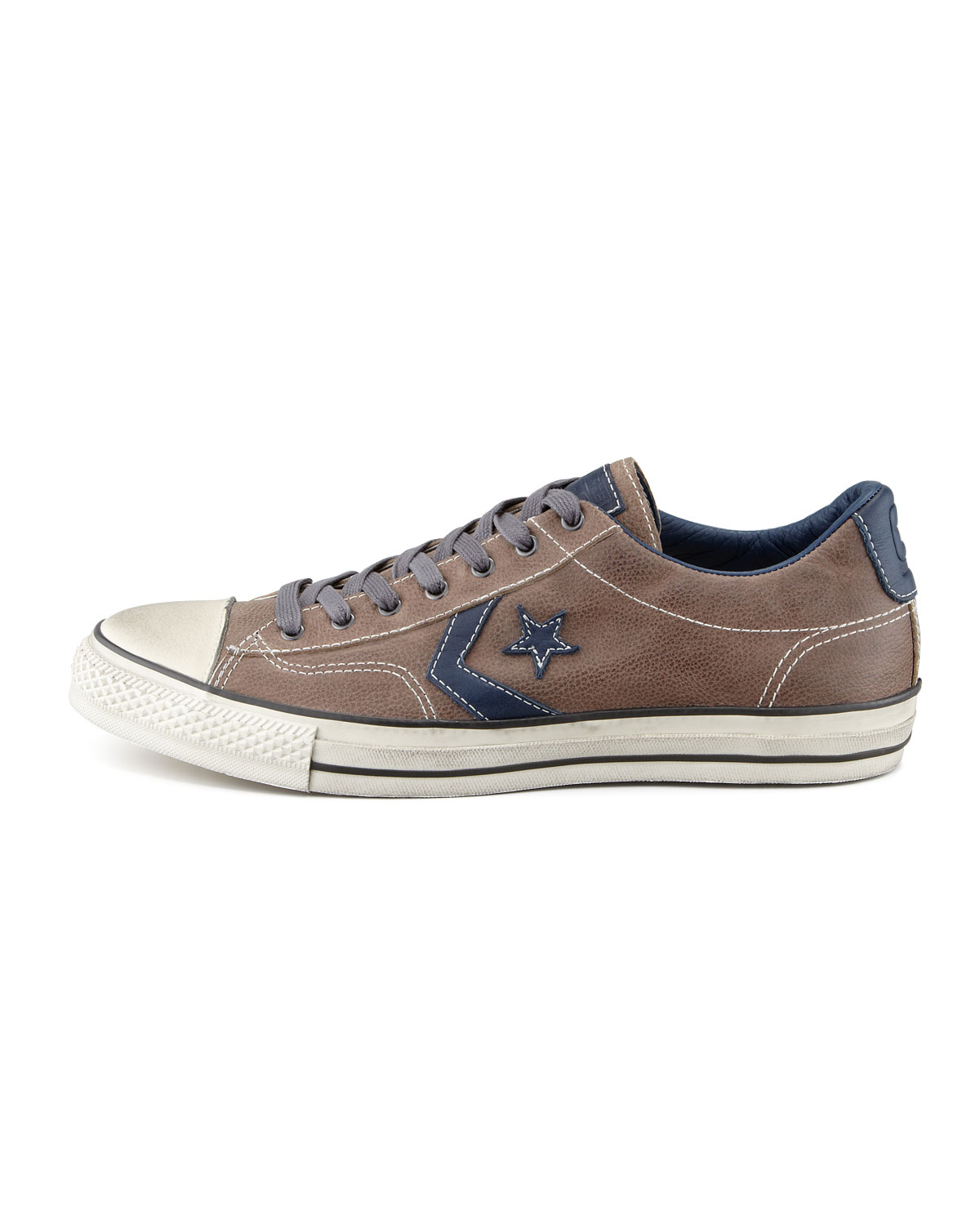 Converse Natural Leather Star Player Ev Lowtop Sneaker Brownblue for men