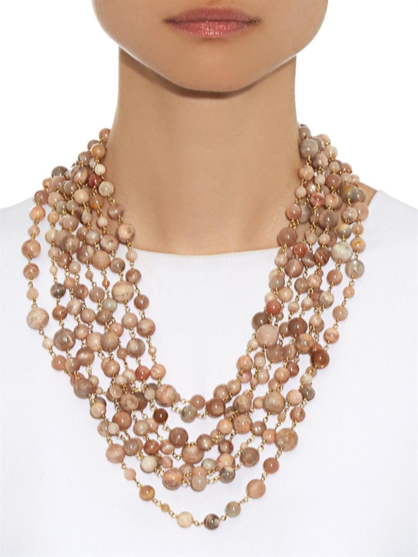 Rosantica Carramato bead-embellished necklace KcyzBh