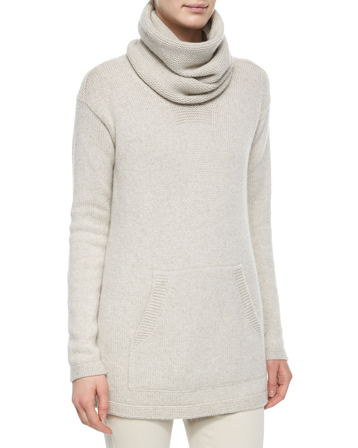 Loro piana Winterland Slouchy Cashmere Turtleneck Sweater in Gray ...
