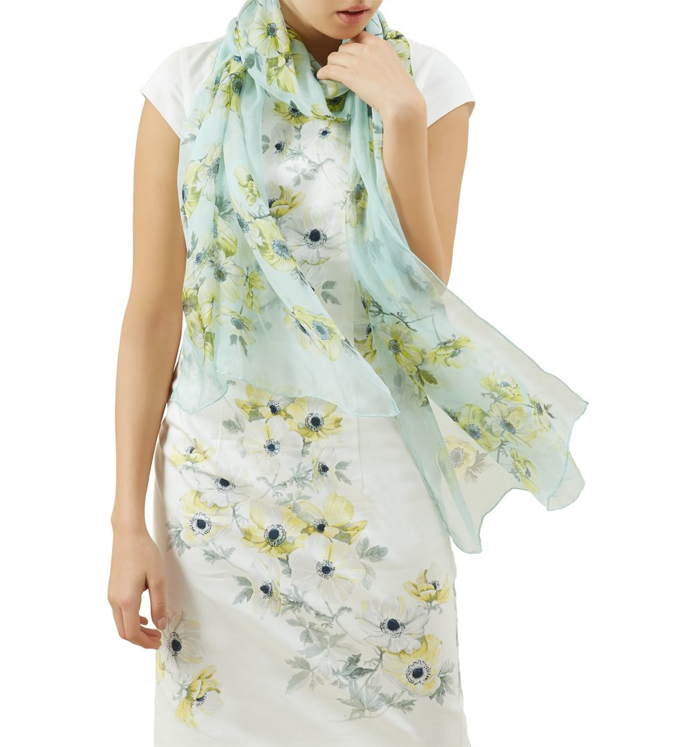 hobbs anemone scarf in green lyst