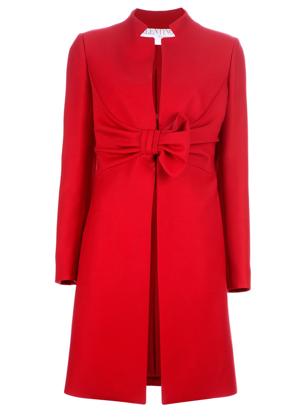 Lyst Valentino Bow Coat In Red