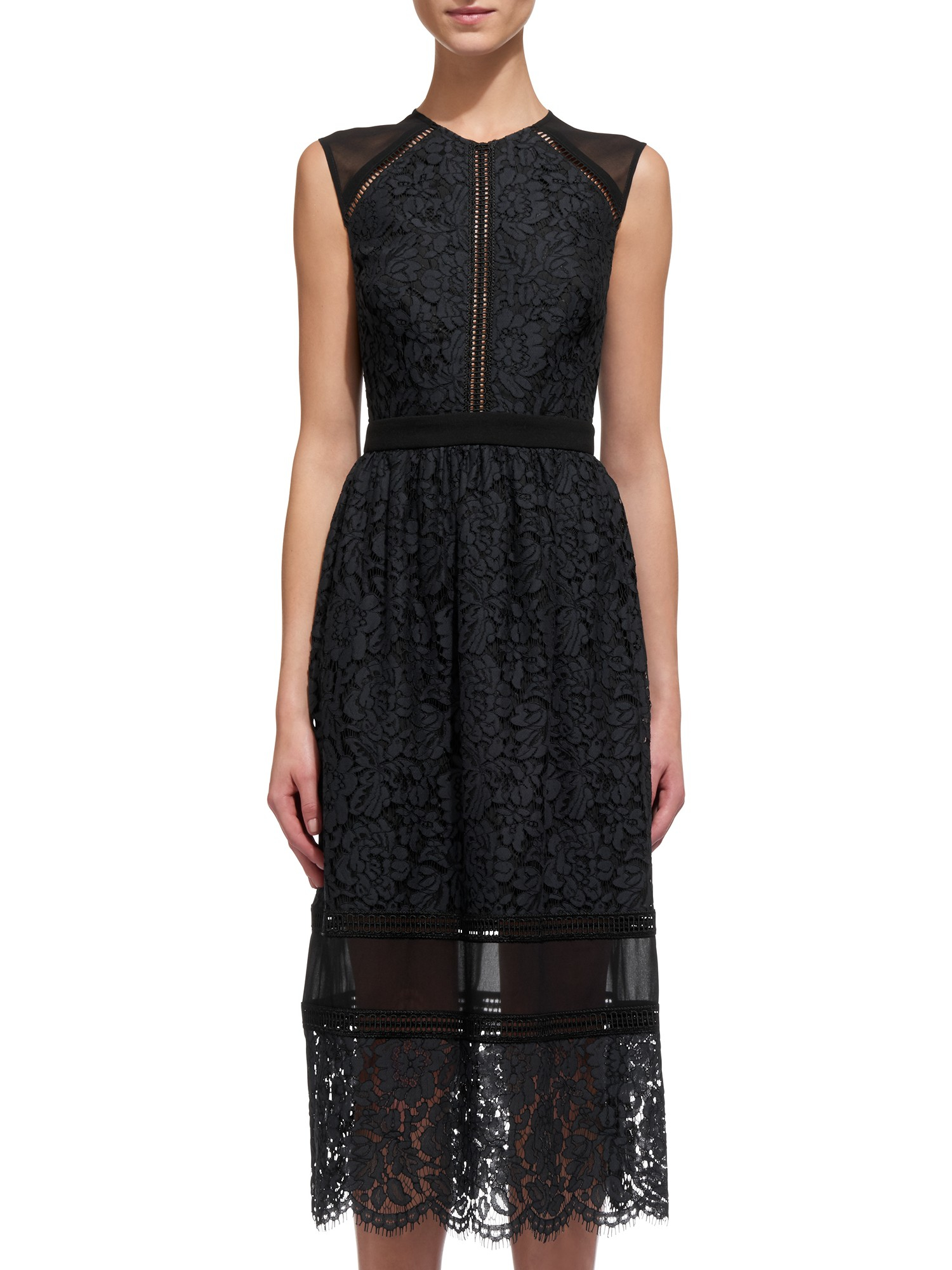 Whistles dress lace