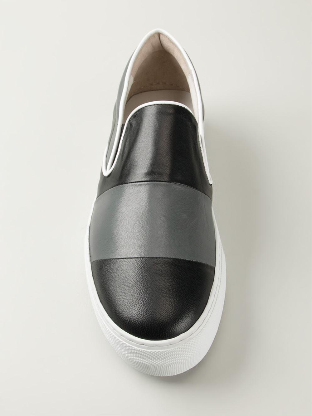 3f876e5e27 Emporio Armani Black Striped Slip-On Sneakers for men