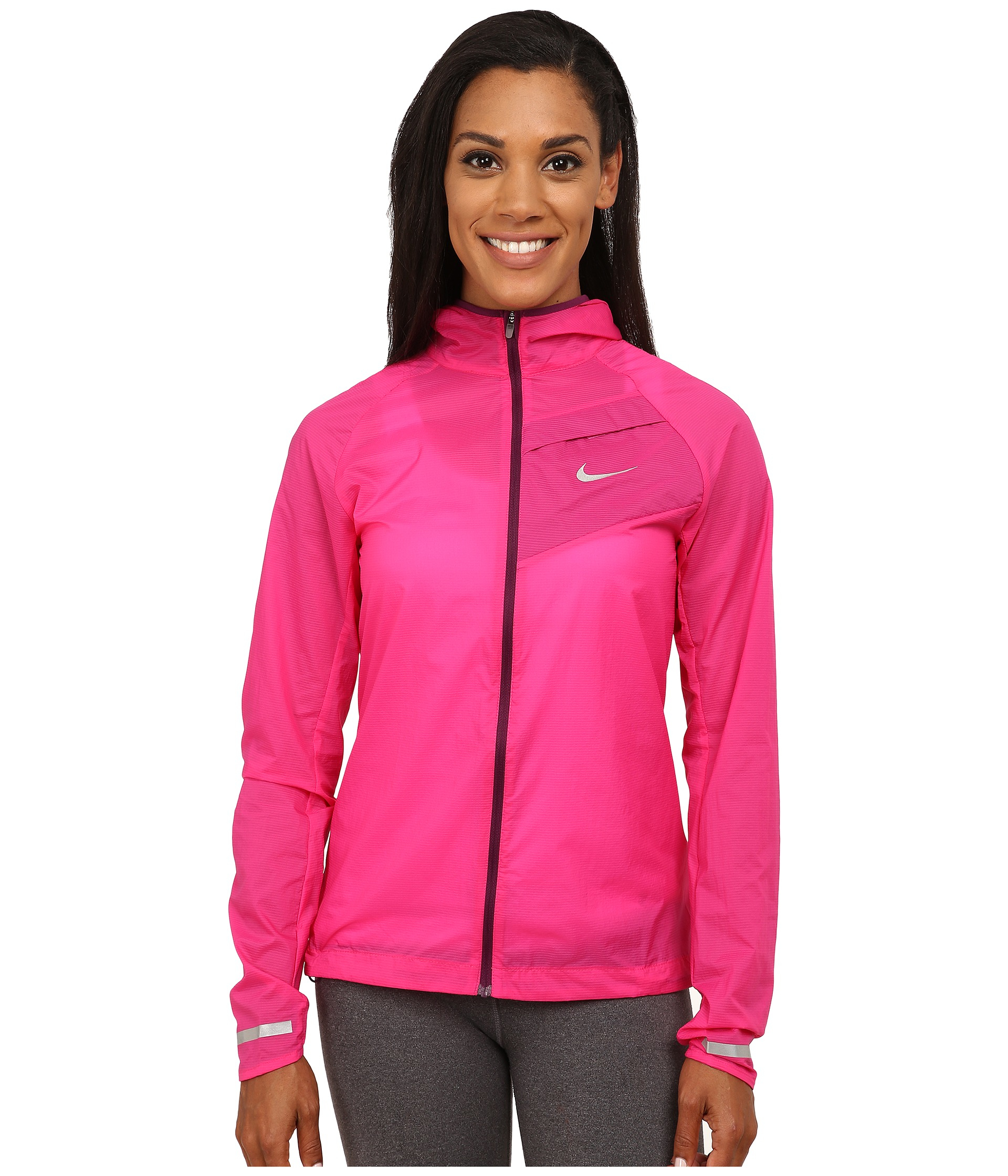 232ba8825694 Nike Impossibly Light Jacket in Pink (Vivid Pink Mulberry Reflective S)