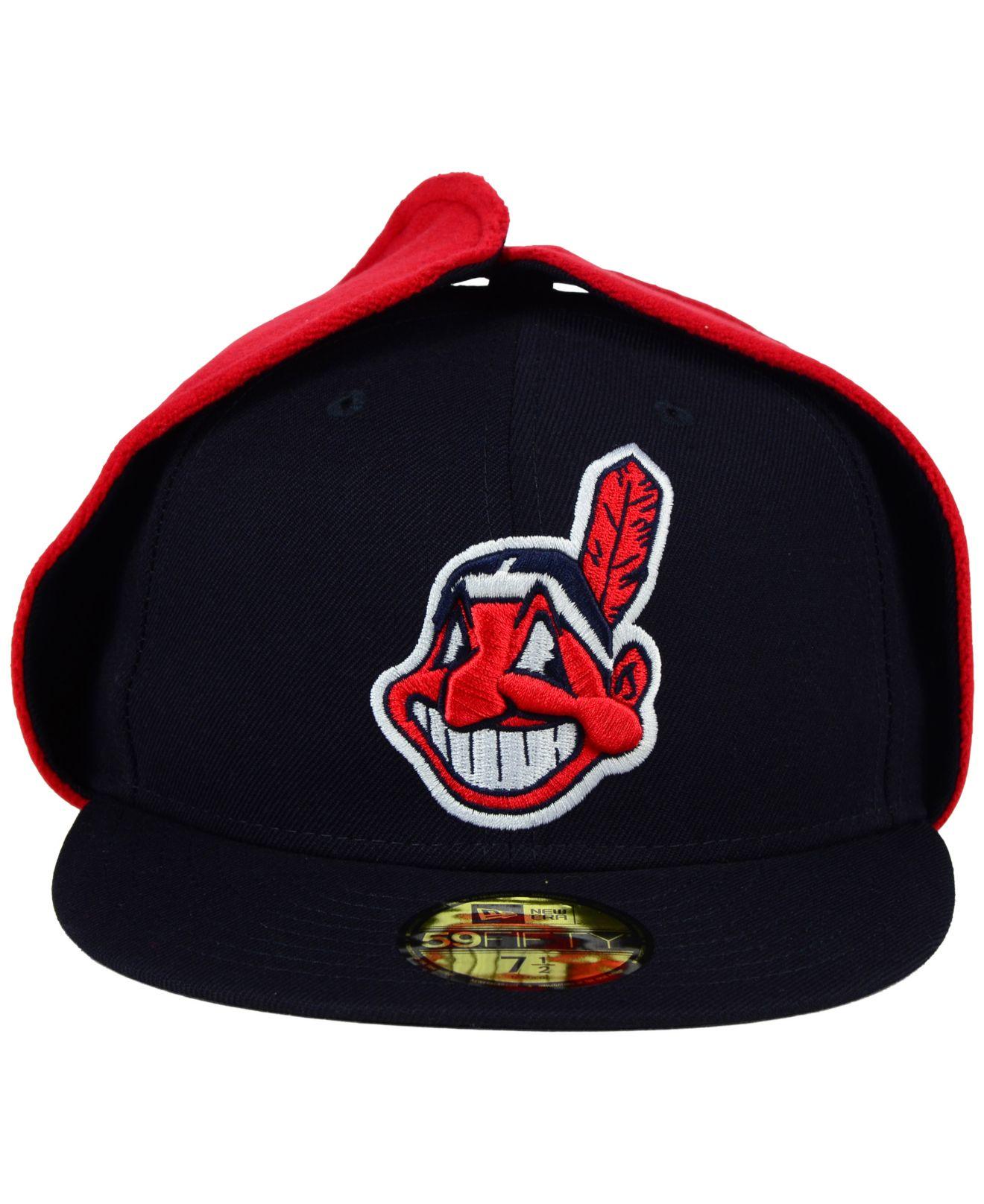 58c568d256b Lyst - KTZ Cleveland Indians Dog Ear 59fifty Cap in Blue for Men