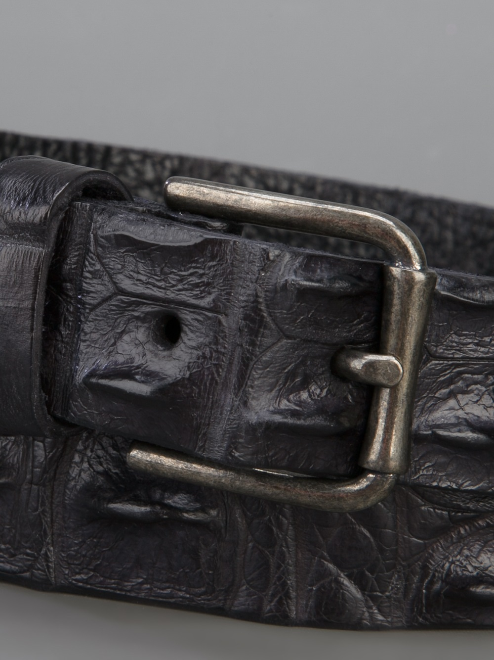 scunzani ivo crocodile leather belt in black for lyst