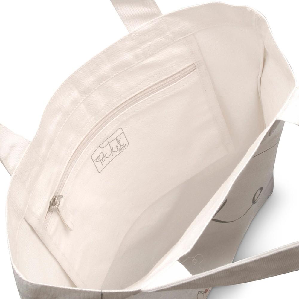 Radley The Pocket Cotton Tote Bag in Cream (White)