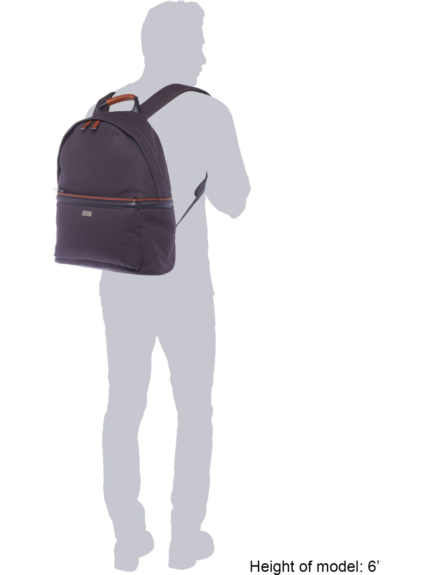 lyst ted baker canvas and leather backpack in blue for men. Black Bedroom Furniture Sets. Home Design Ideas