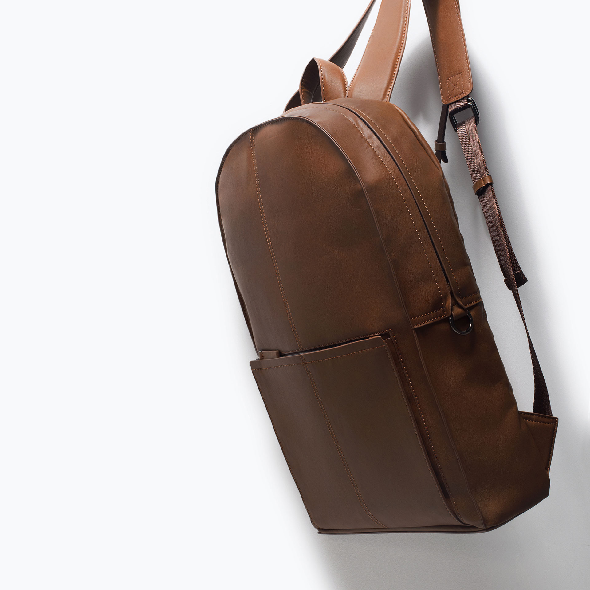 Zara Office Backpack In Brown For Men Lyst
