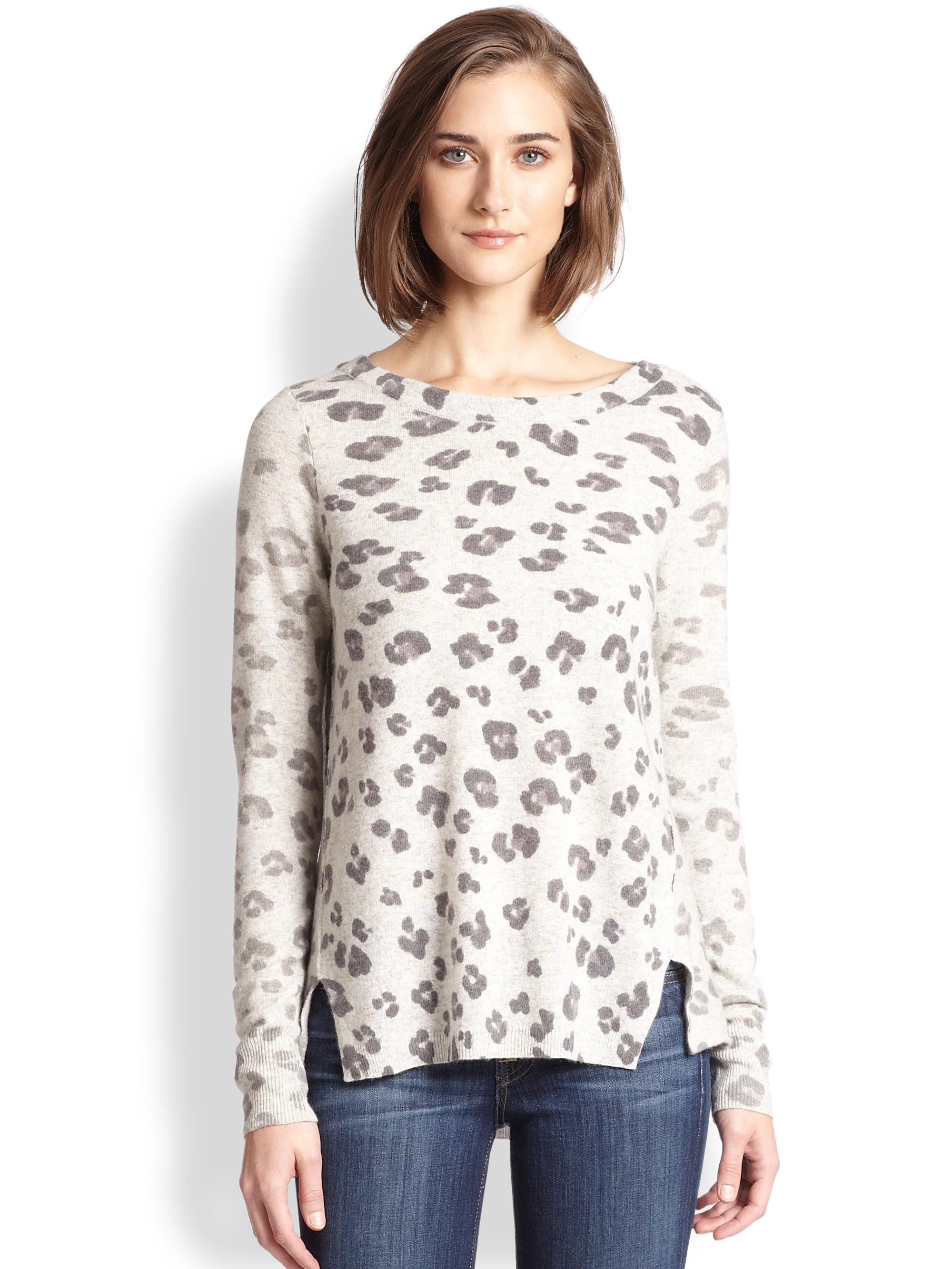 07e193d18b8a9 Lyst - Rebecca Taylor Leopard Print Sweater