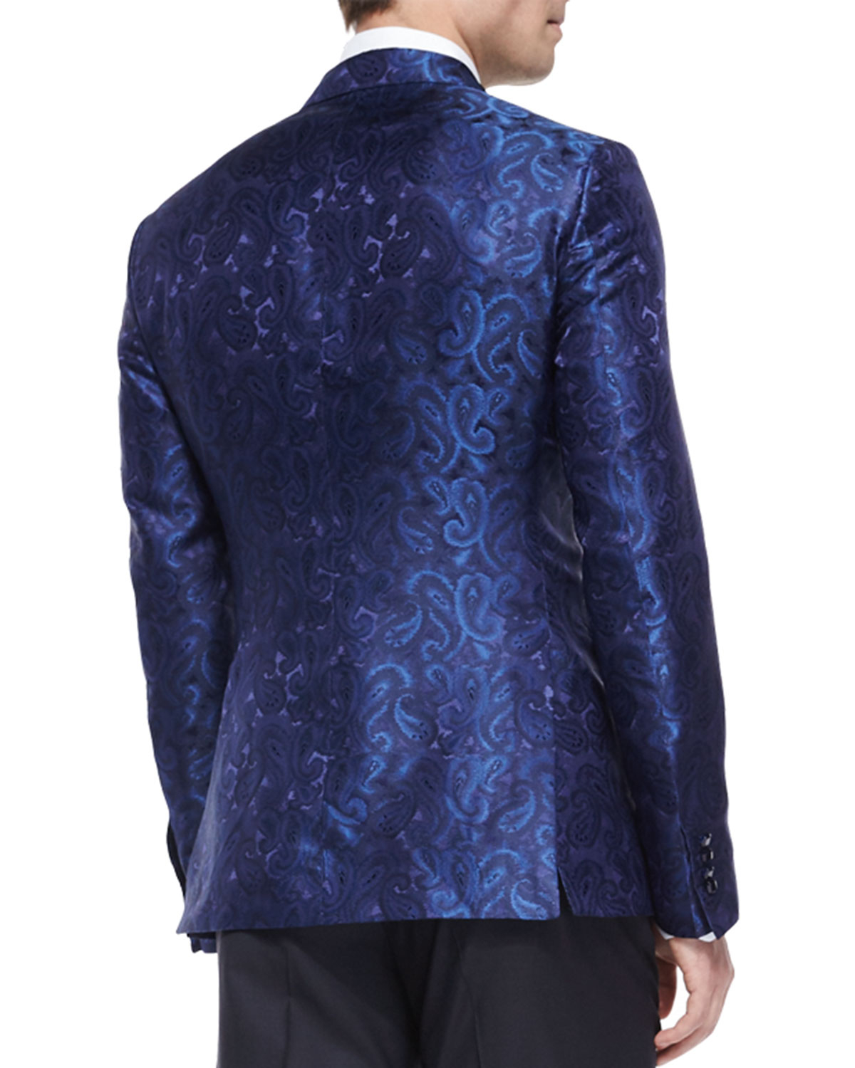 Lyst Etro Paisley Jacquard Evening Jacket In Blue For Men