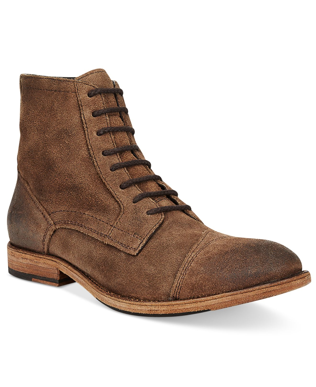 frye s everett lace up boots in brown for lyst