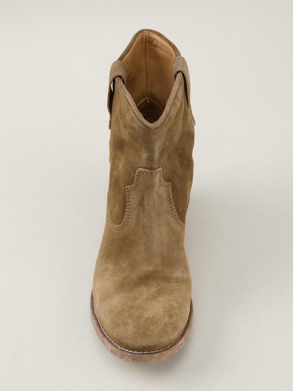 Isabel Marant Besley Short Boot in Blue (Natural)