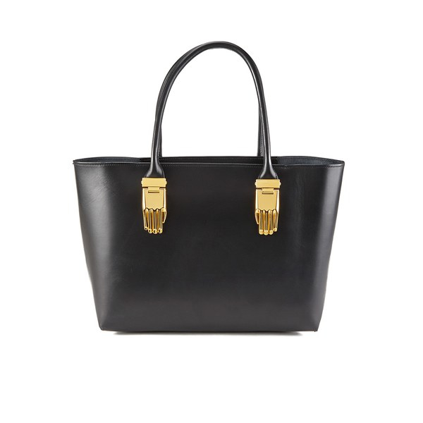 Opening Ceremony Women's Mac Small Structured Tote Bag in Gold (Black)