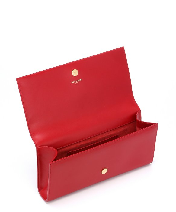 belle de jour bag - Saint laurent Lipstick Red Leather Monogram Tassel Clutch in Red ...