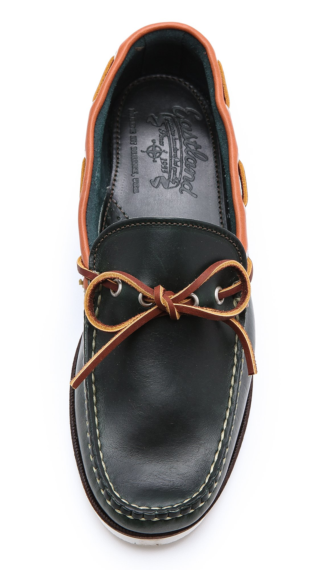 Eastland Yarmouth Usa Camp Moccasins In Black For Men Lyst