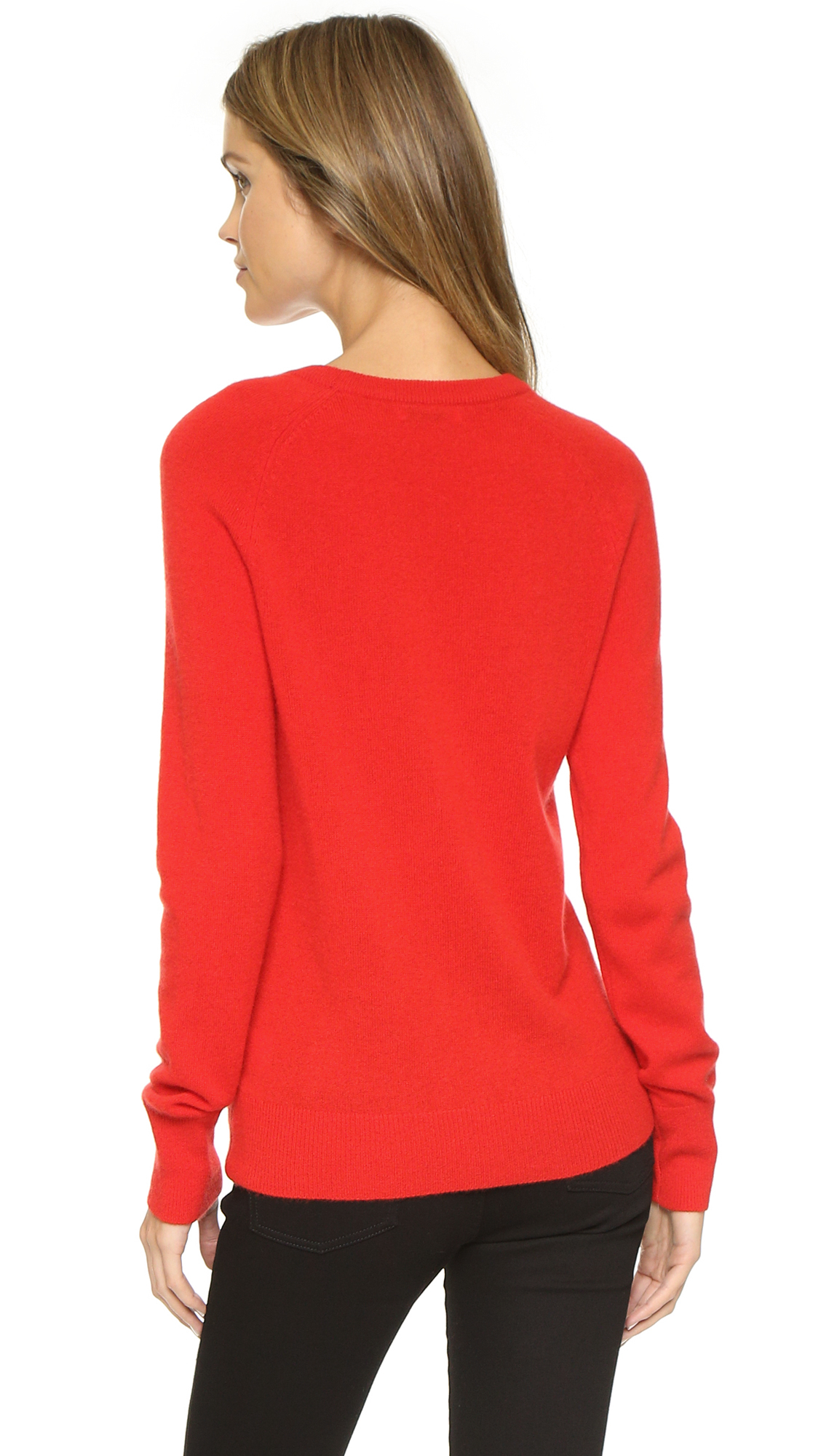 Equipment Sloane Crew Neck Sweater in Red | Lyst