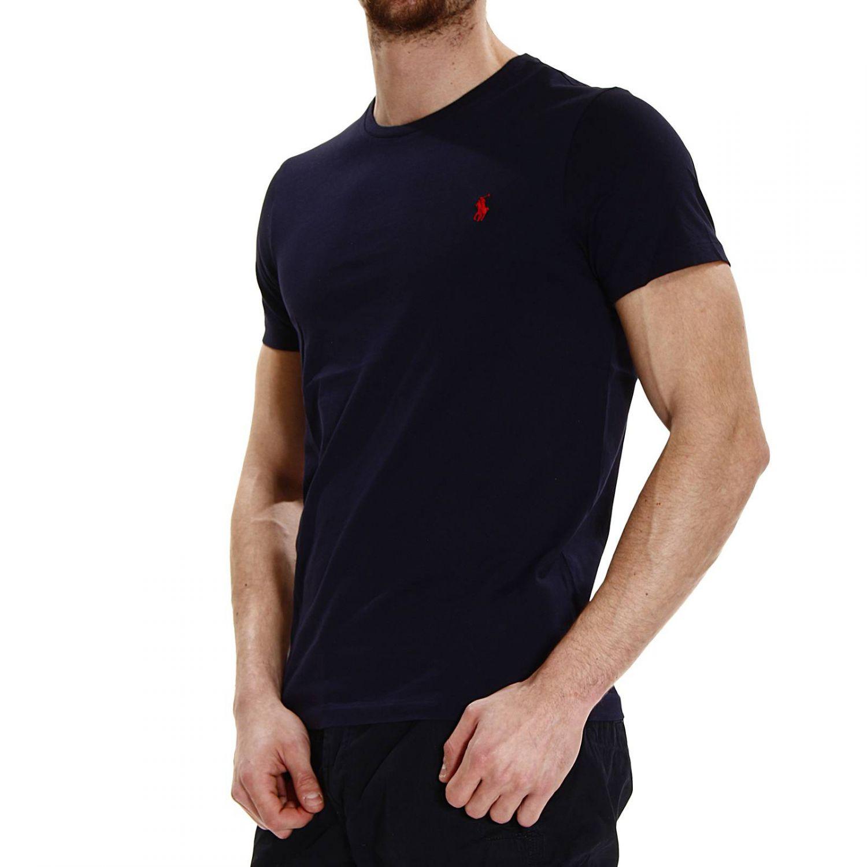 polo ralph lauren t shirt crew neck half sleeve classica in blue for men lyst. Black Bedroom Furniture Sets. Home Design Ideas