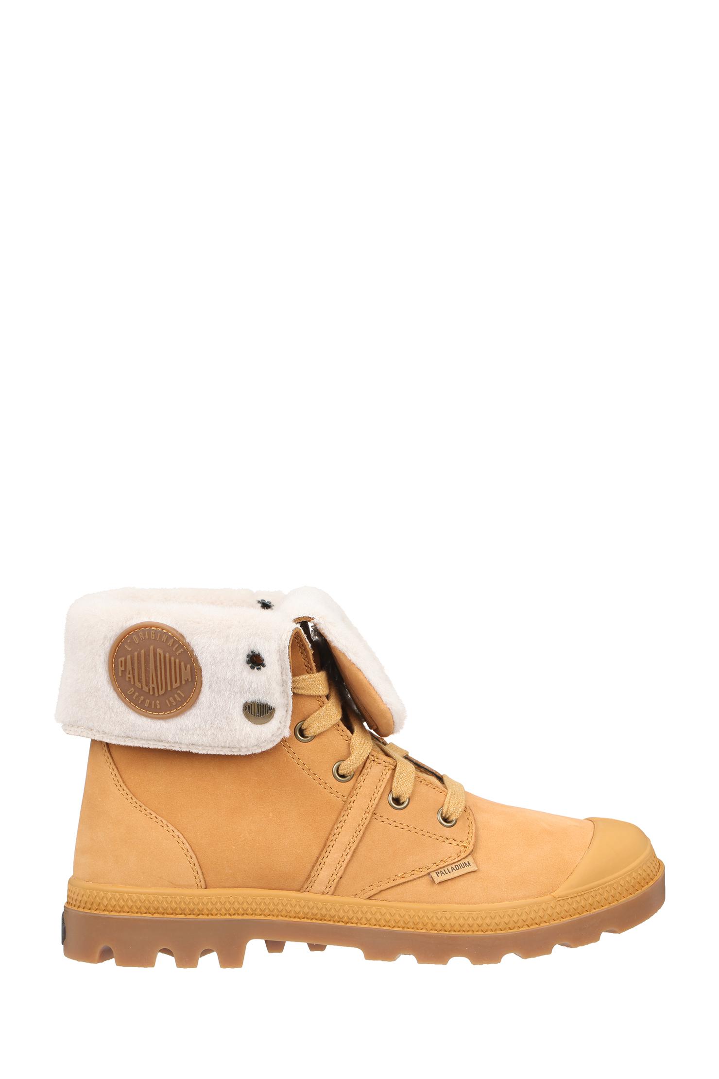 palladium boots in brown lyst