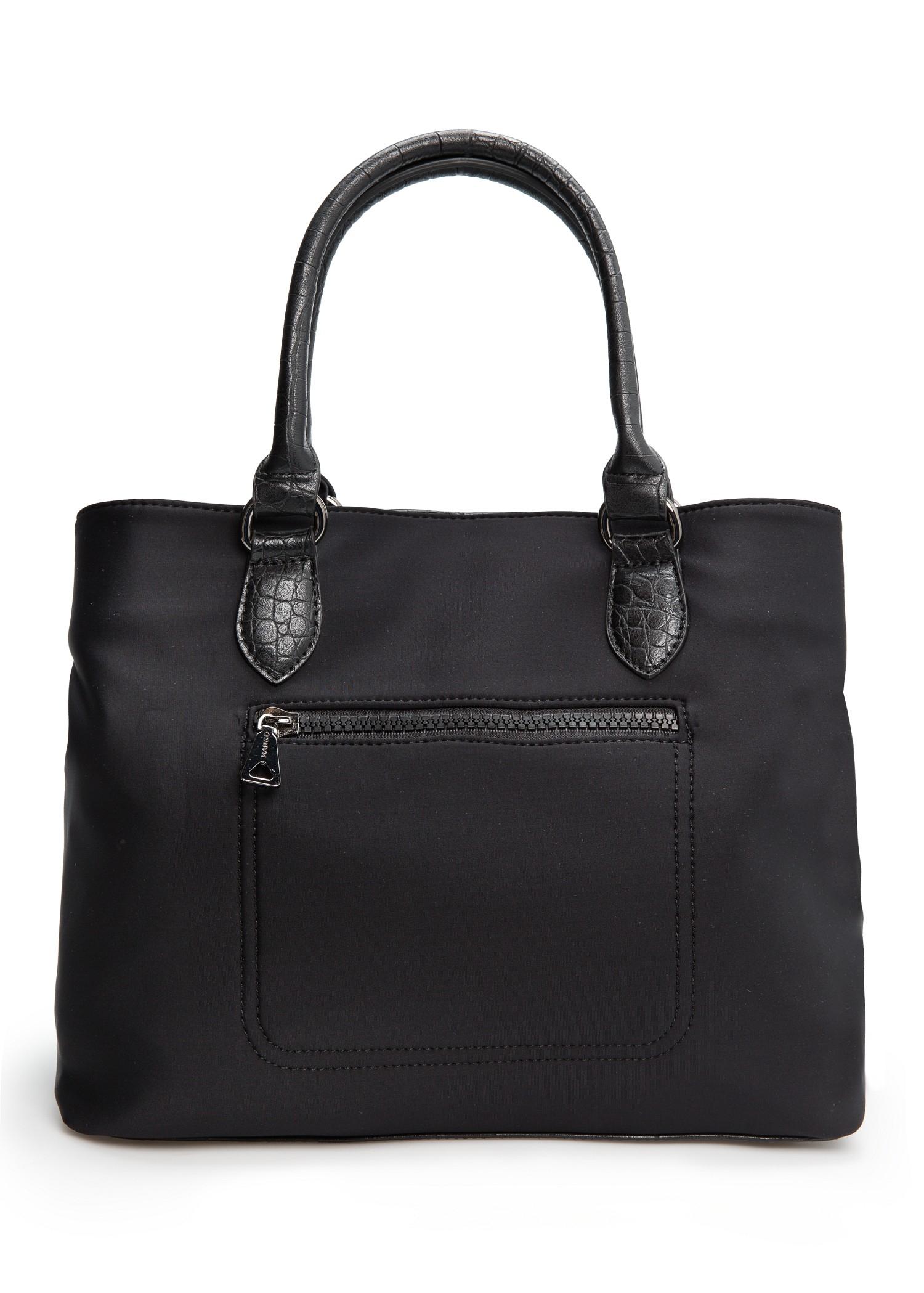 Mango Zip Neoprene Bag In Black Lyst