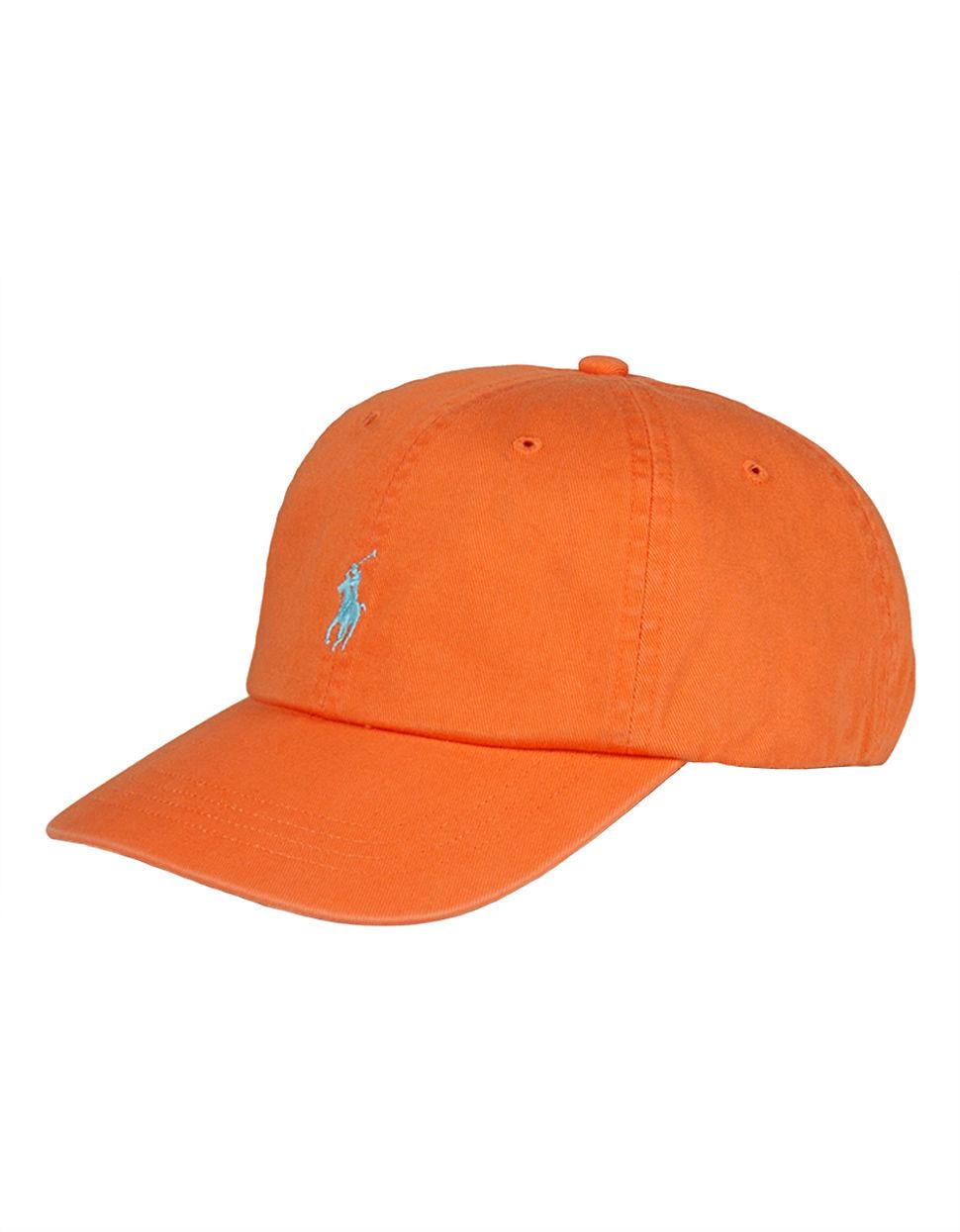 polo ralph lauren classic chino sports cap in orange for men lyst. Black Bedroom Furniture Sets. Home Design Ideas