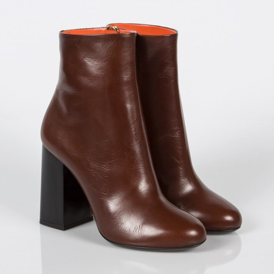Paul Smith Women's Brown Leather And Snakeskin 'eileen' Heeled Boots