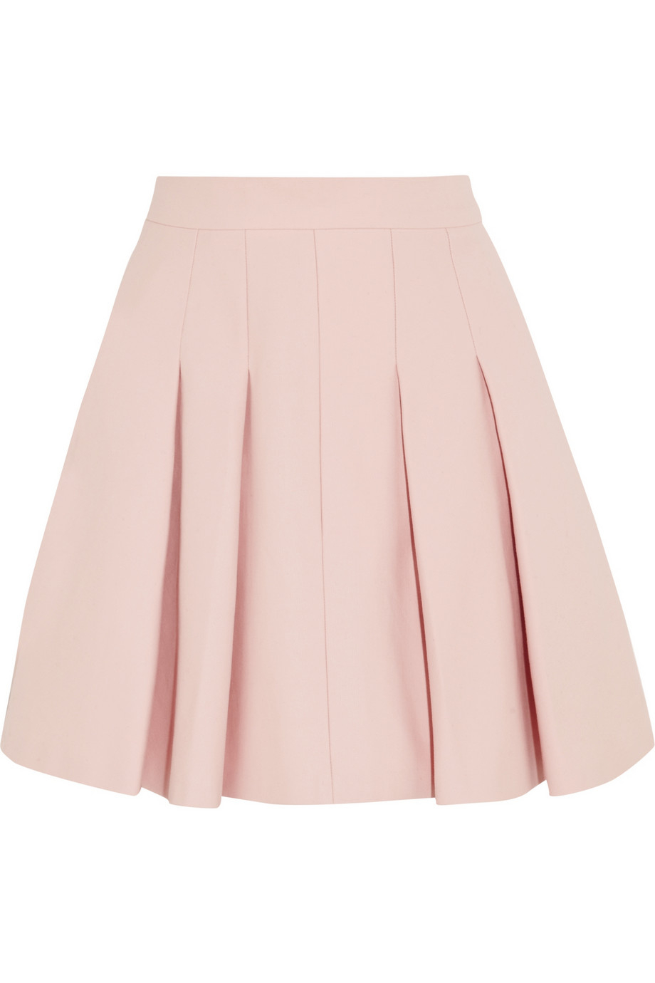 Red valentino Pleated Stretch-Cotton Mini Skirt in Pink | Lyst