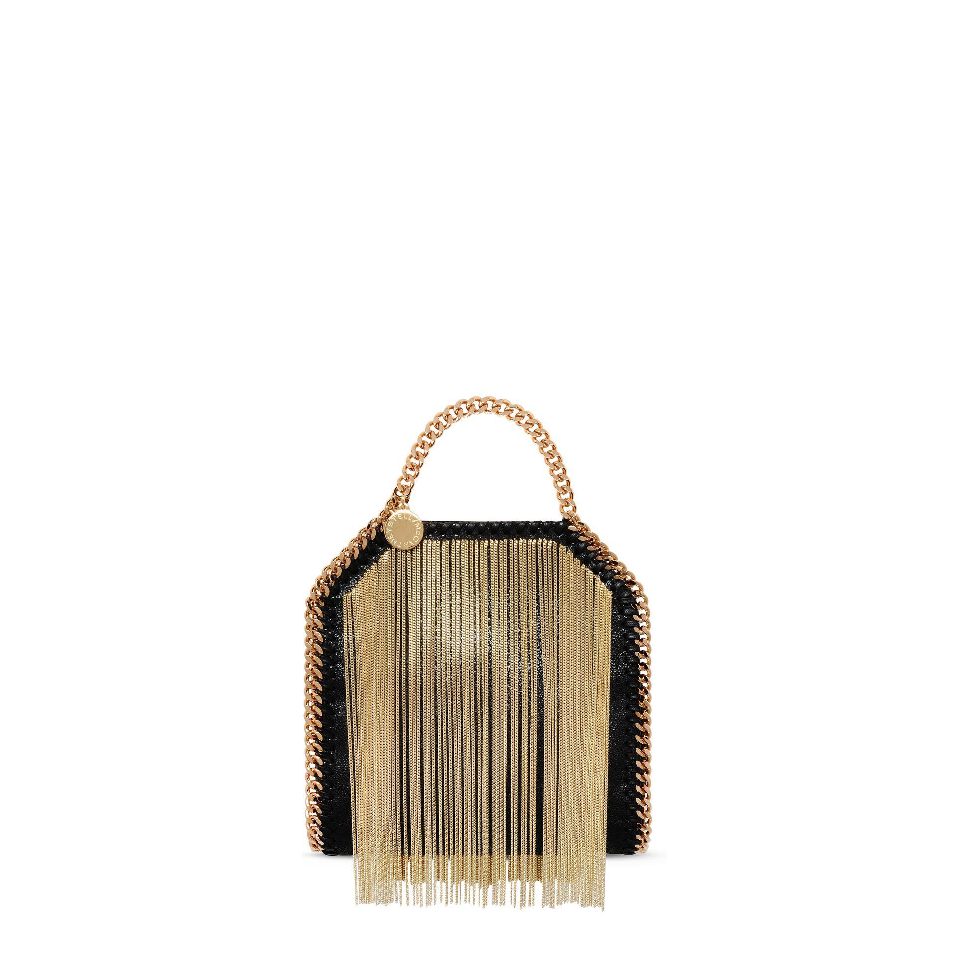 Stella McCartney Falabella Chain Fringed Tiny Tote in Metallic - Lyst 420e213c2cf57