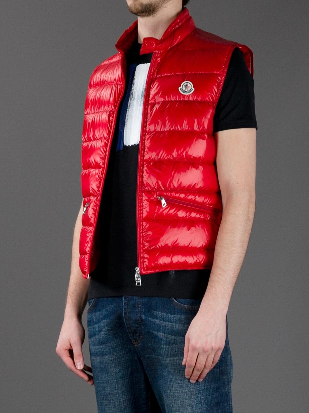 Lyst Moncler Gui Puffer Vest In Red For Men