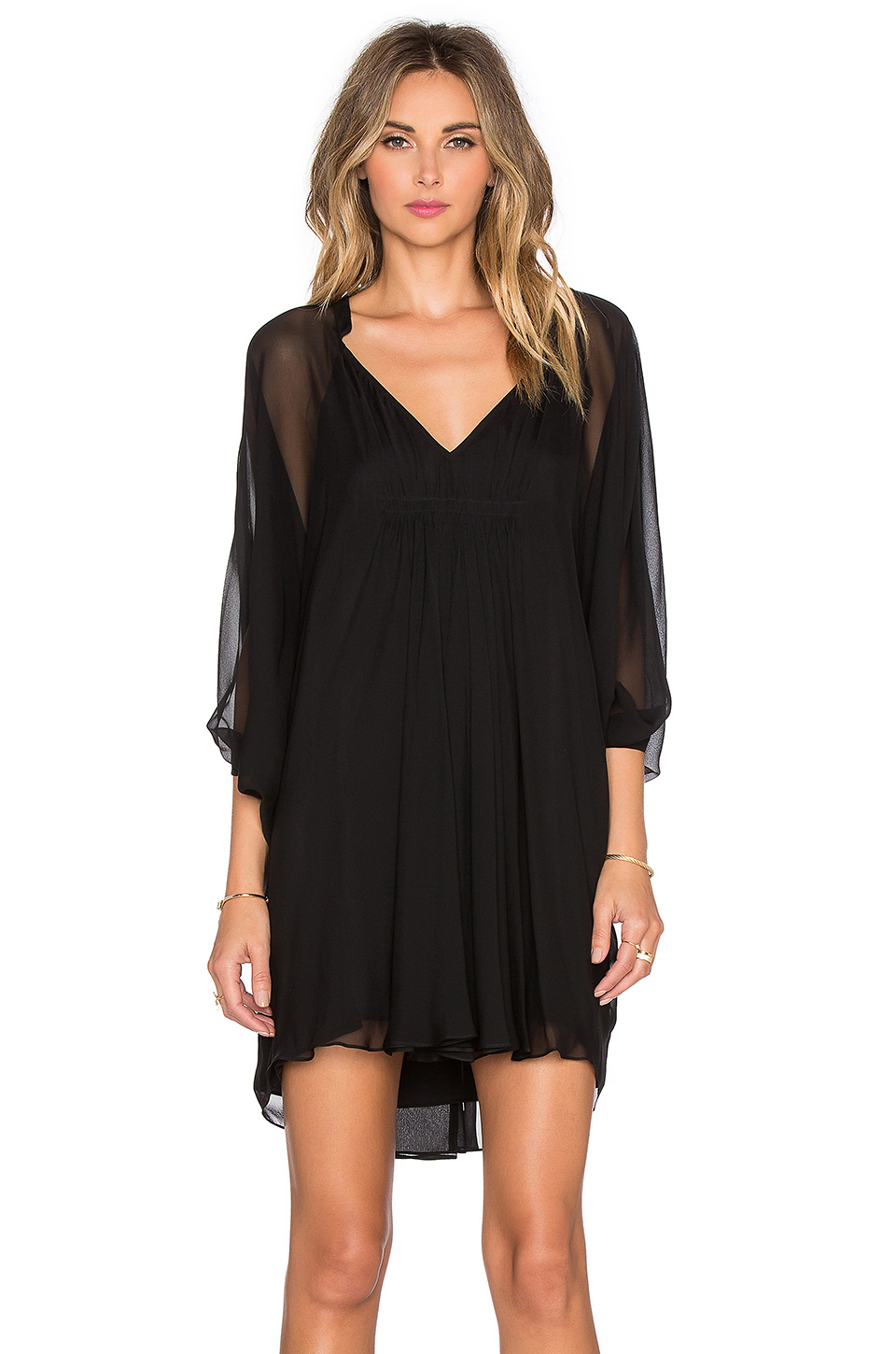 Lyst diane von furstenberg fleurette dress in black for Diane von furstenberg clothes