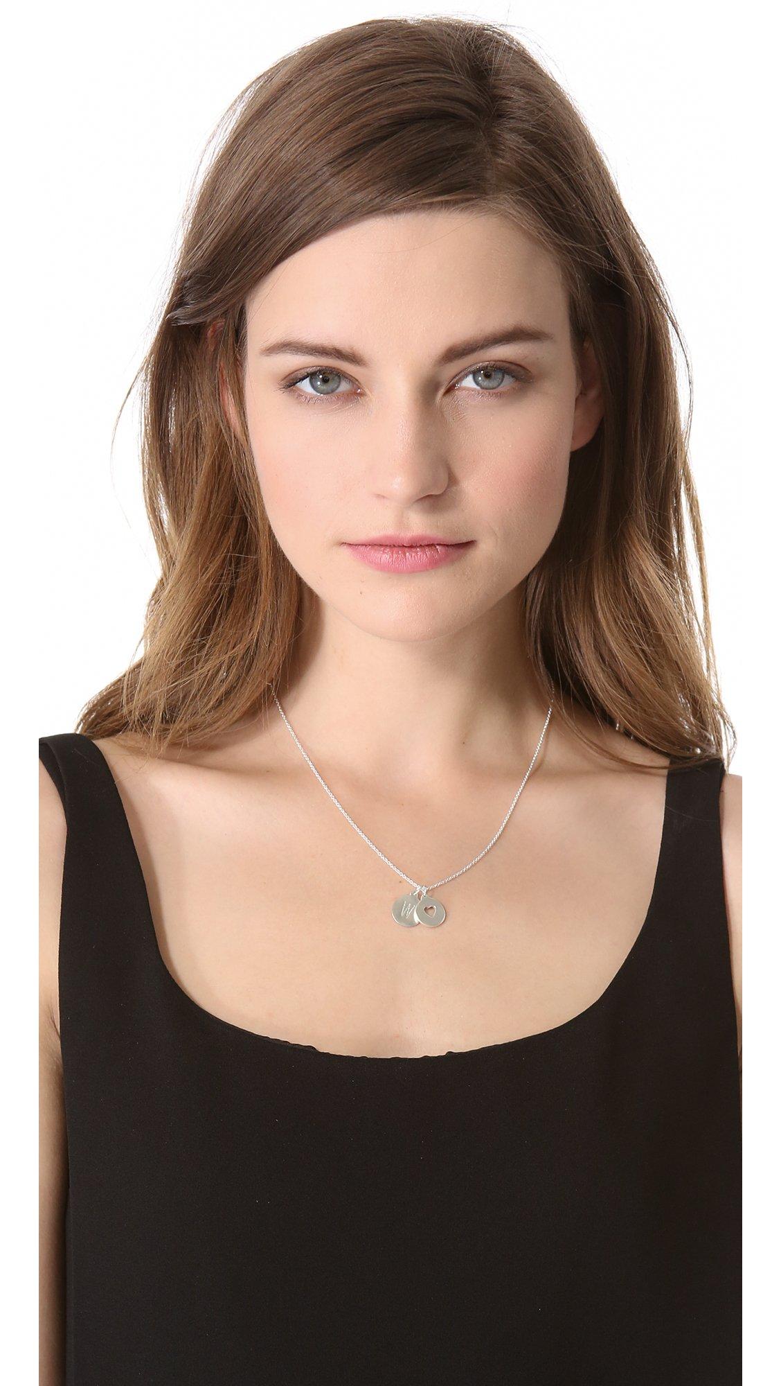 Helen Ficalora Cutout Heart Charm - Silver in Metallic