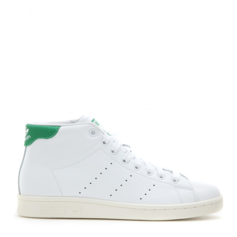 adidas Stan Smith Mid Leather High top Sneakers in Green Lyst