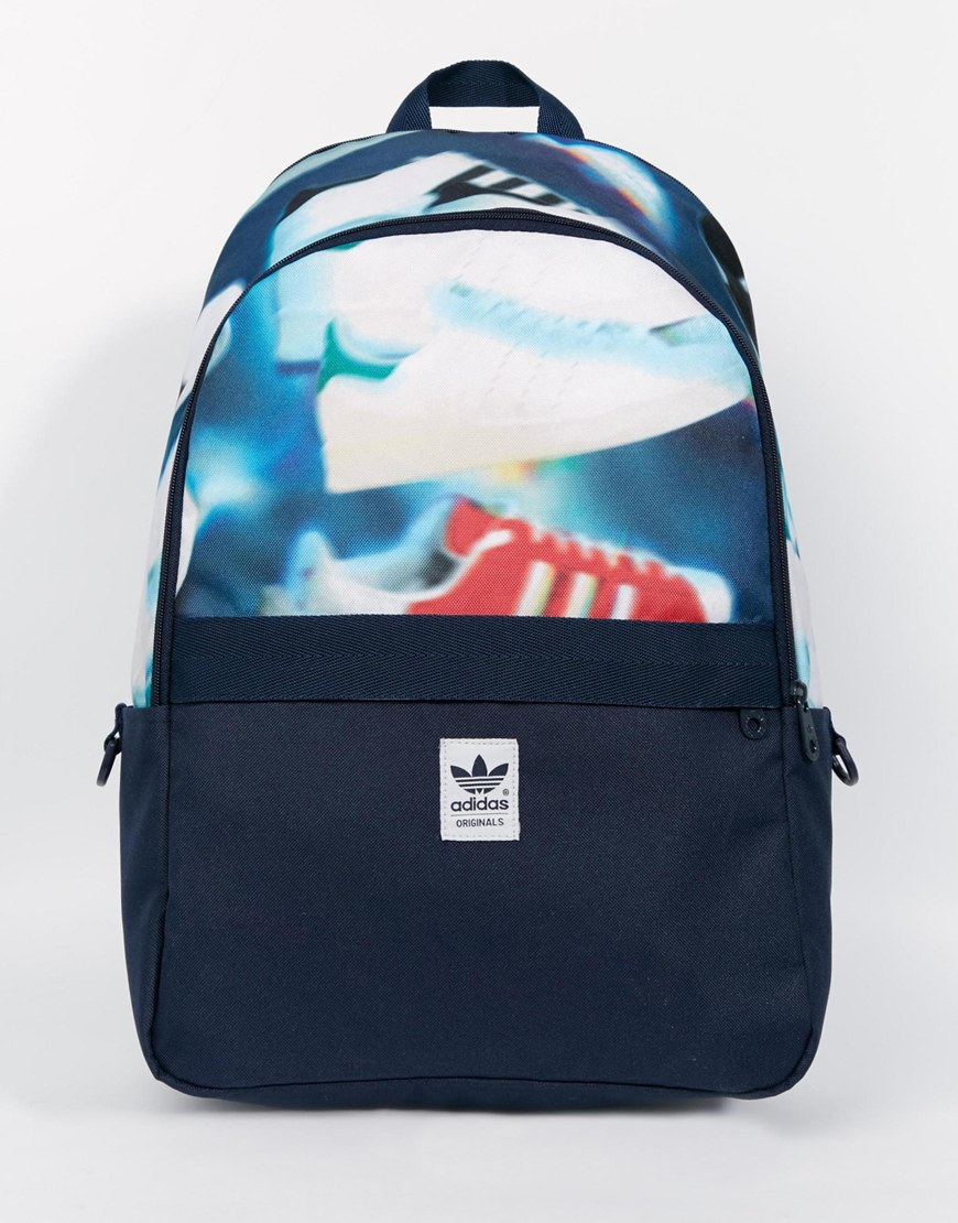 f4320092d94 Lyst - adidas Originals Backpack In Shoe Chaos Print Ax5789 in Blue for Men