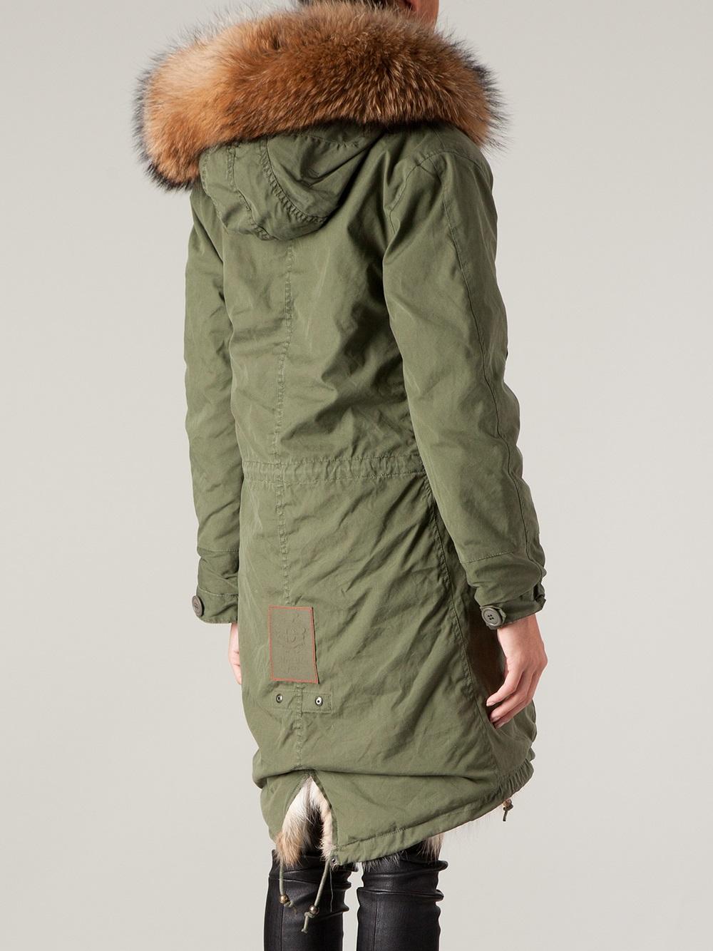 Green Fur Lined Parka